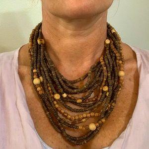 Beautiful Wood bead necklace